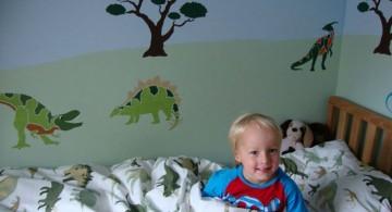 dinosaur wallpaper mural for kids
