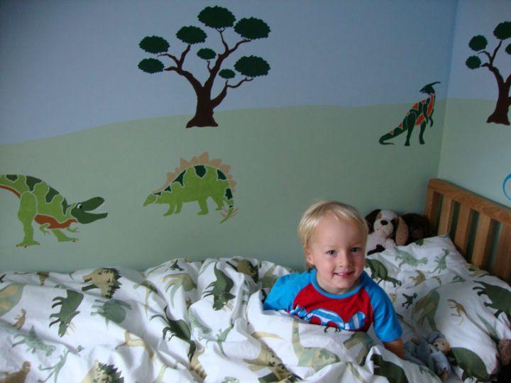 Dinosaur wallpaper mural for kids for Dinosaur mural wallpaper
