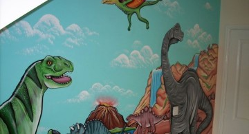 dinosaur wallpaper mural for loft rooms