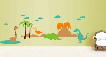 easy DIY dinosaur wallpaper mural