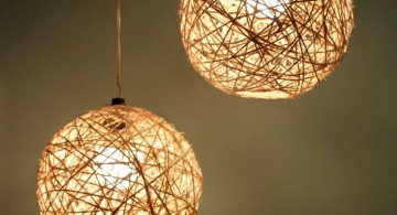 easy and simple pendant light diy