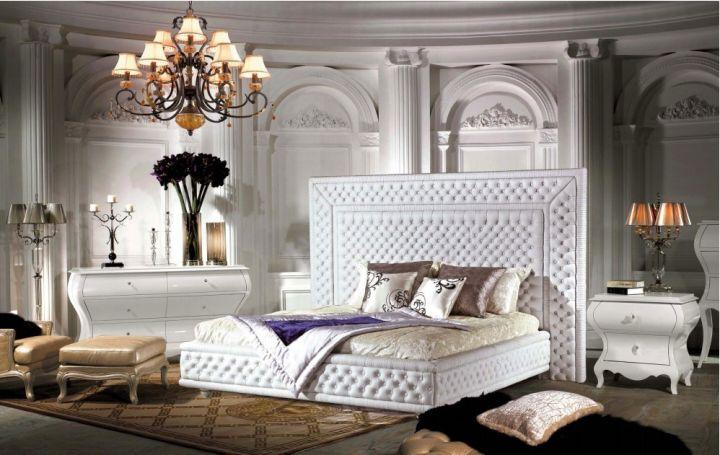 elegant beds with large headboar