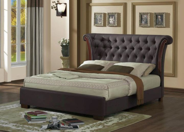 elegant beds with large headboard