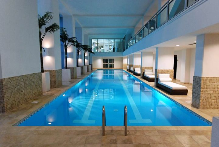 elegant indoor lap pool