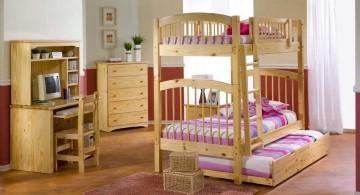 elegant minimalist bunk bedroom ideas