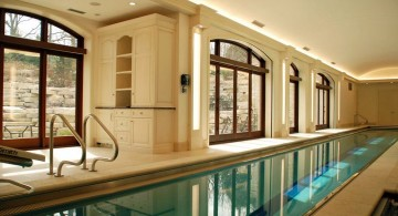 elegant minimalist indoor lap pool