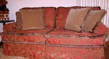 elegant red high end slipcover