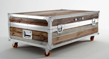elegant trunk coffee table with wheels