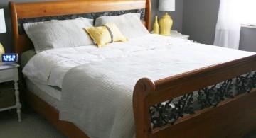 elegant yellow gray bedroom