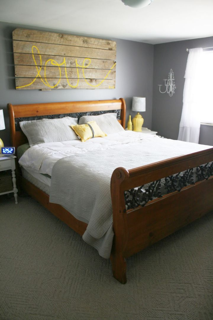 Elegant Yellow Gray Bedroom
