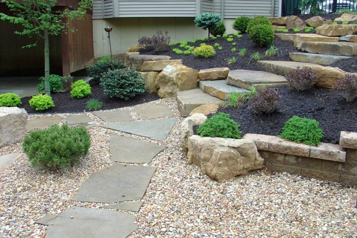 18 simple and easy rock garden ideas for Stone landscaping ideas