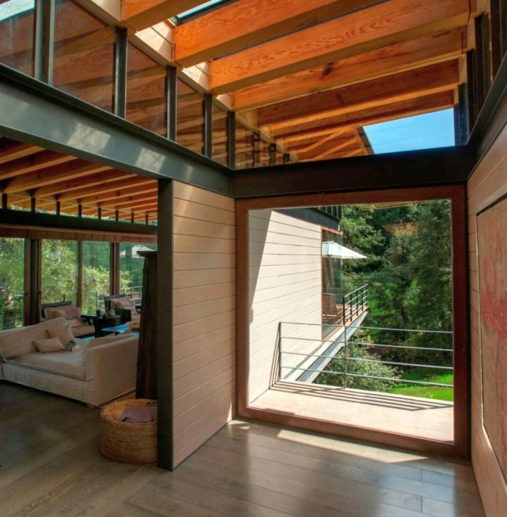 exposed beam ceiling for indoor and outdoor