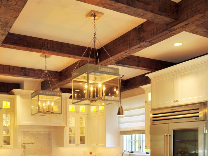 Homely exposed beam ceiling rustic interior ideas