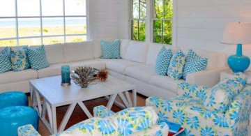 featured image of bright turquoise living room decor