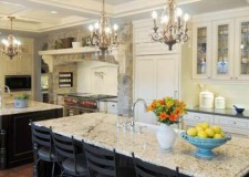 featured image of classic chandelier kitchen island pendant lighting idea