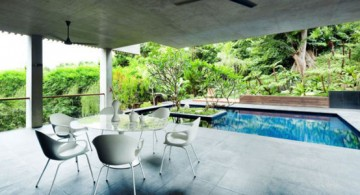 featured image of contemporary pool for small yard with nice white patio