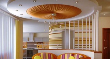featured image of lovely orange drop ceiling design