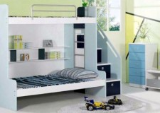featured image of modern bunk bed in simple monochrome color scheme