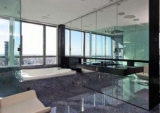 featured image of modern glass shower in a nifty penthouse apartment