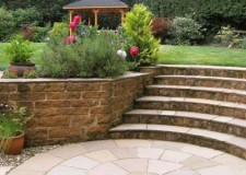 featured image of simple and contemporary garden stairs design