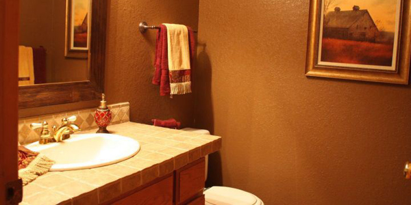 Featured image of simple and warm brown bathroom for Warm bathroom designs
