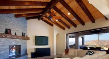 featured image of two toned exposed beam ceiling