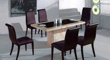 featured image of two toned granite dining table design