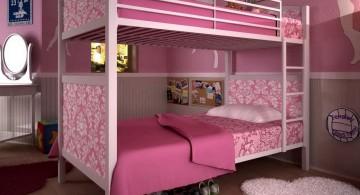 feminine bunk bedroom ideas