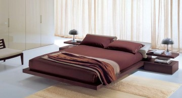 floating bed by Italian furniture maker