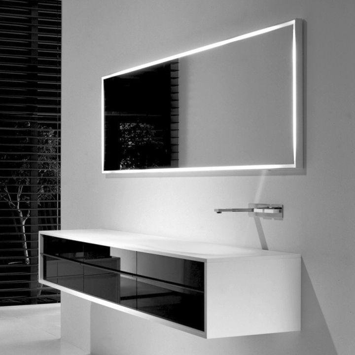 floating sinks in monochrome