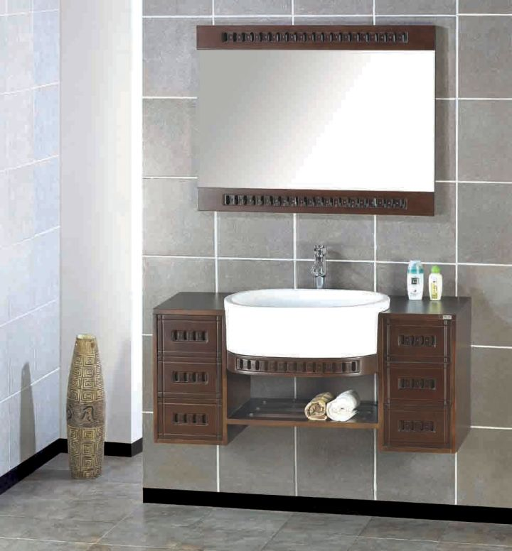 floating sinks with cabinets attached