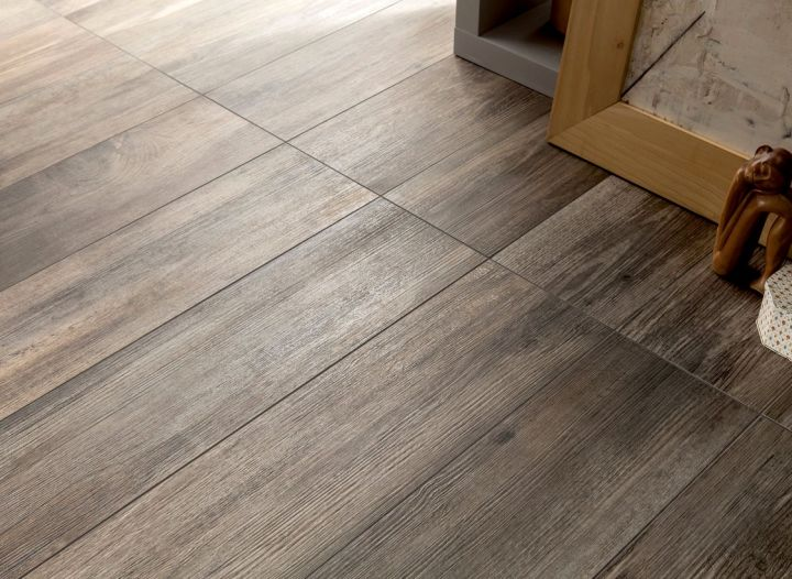 floor tiles for living room scorched wood panel