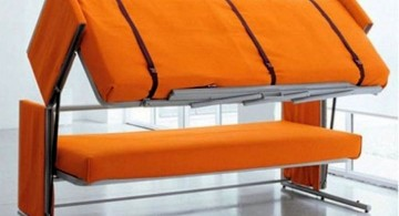 foldable orange unique trundle beds