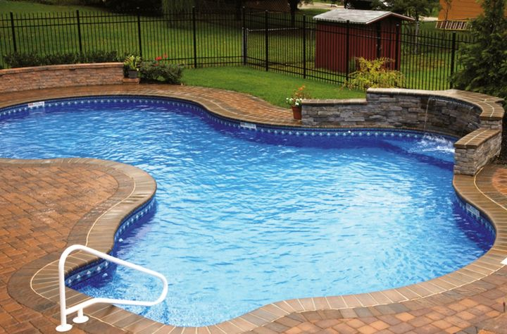 free formed pool for small yard