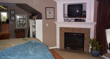 gas fireplace bedroom with glass panel
