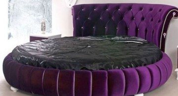 glamorous purple round bed frame