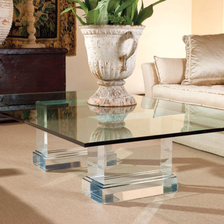 glass top acrylic cocktail table