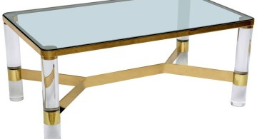 glass top square lucite coffee table