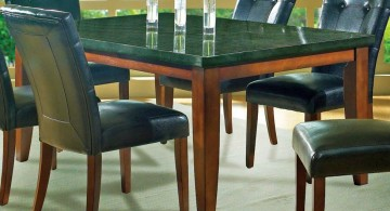 gorgeous black granite dining room table