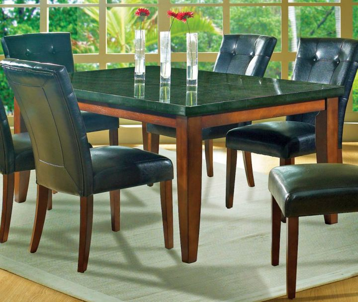 17 amazing granite dining room table designs for Awesome dining table designs