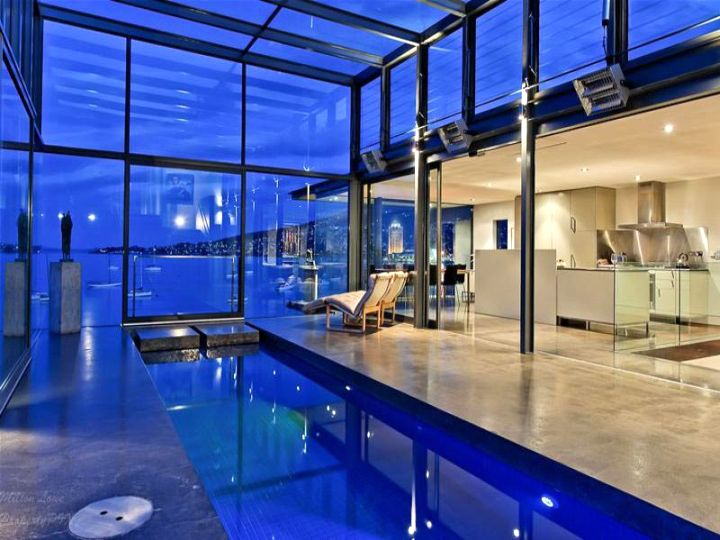 gorgeous indoor lap pool