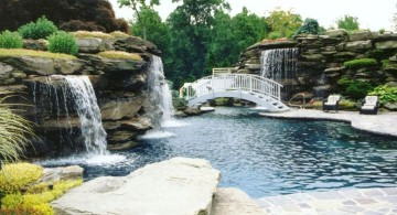 gorgeous pools with waterfalls