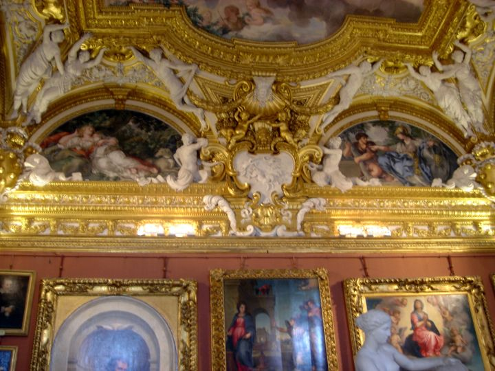 heavily ornated vaulted beautiful ceilings