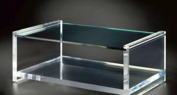 hollow acrylic cocktail table