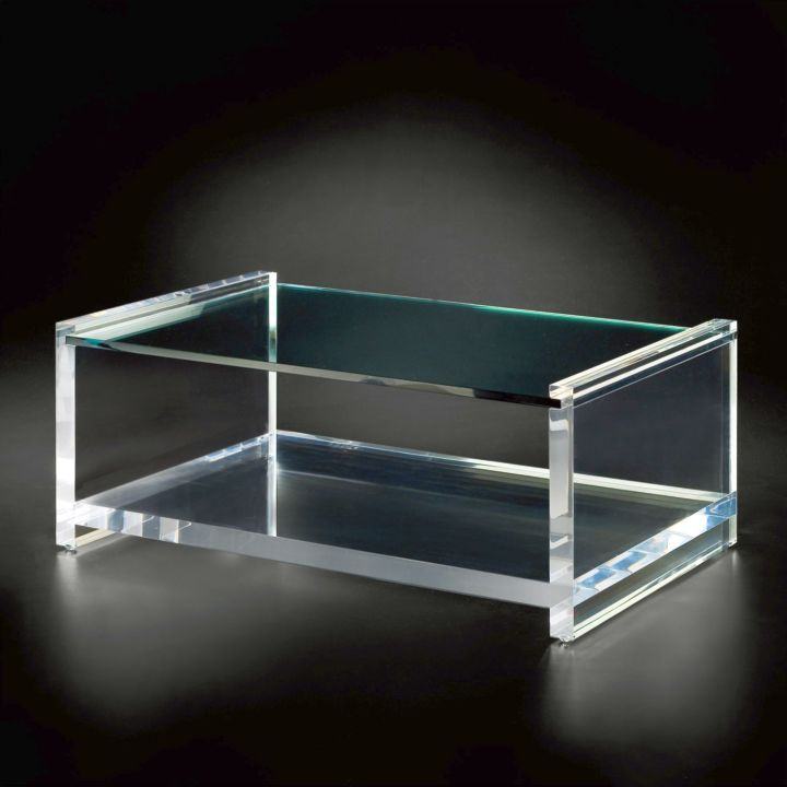 hollow acrylic cocktail table. Black Bedroom Furniture Sets. Home Design Ideas