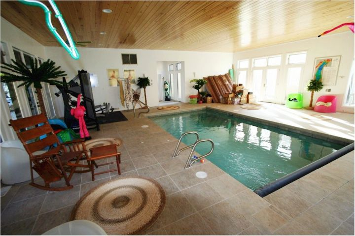 home gym indoor lap pool