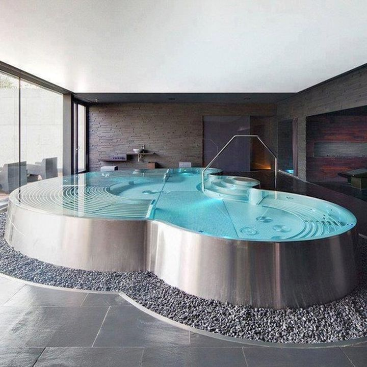 homes with indoor pools above ground