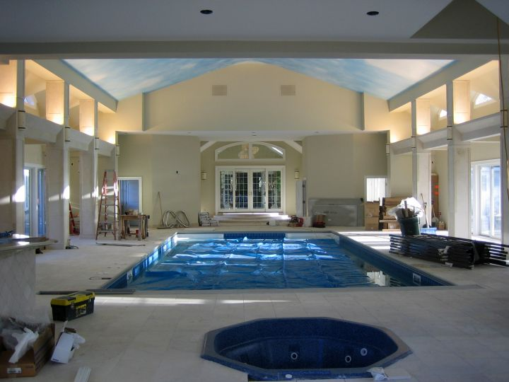 homes with indoor pools and home gym
