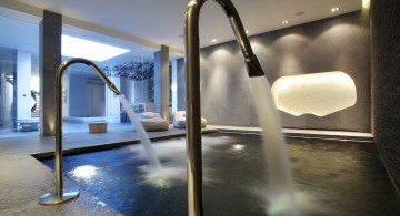 homes with indoor pools small square