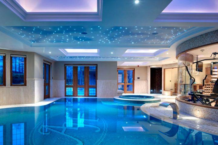 homes with indoor pools with indoor gym